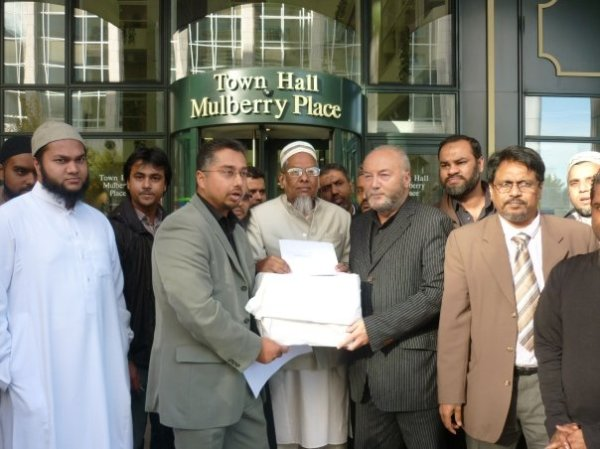 handing in the petition